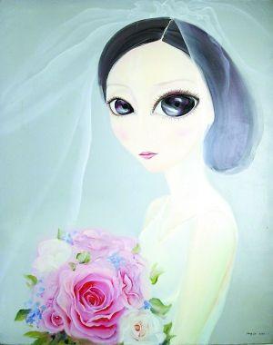 新娘》 作者:李方雪 尺寸:100×80CM